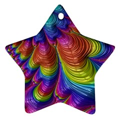 Radiant Sunday Neon Star Ornament (Two Sides)