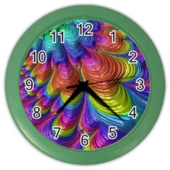Radiant Sunday Neon Wall Clock (Color)