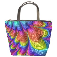 Radiant Sunday Neon Bucket Handbag