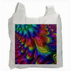 Radiant Sunday Neon White Reusable Bag (Two Sides)