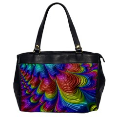 Radiant Sunday Neon Oversize Office Handbag (One Side)