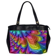Radiant Sunday Neon Oversize Office Handbag (two Sides)