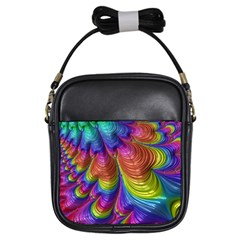 Radiant Sunday Neon Girl s Sling Bag