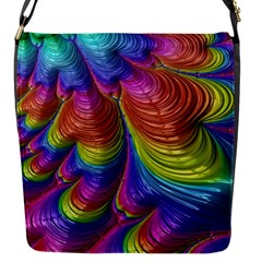 Radiant Sunday Neon Flap Closure Messenger Bag (Small)