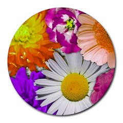 Lovely Flowers,purple 8  Mouse Pad (Round)