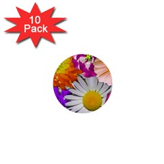 Lovely Flowers,purple 1  Mini Button (10 pack)