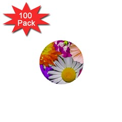 Lovely Flowers,purple 1  Mini Button (100 pack)