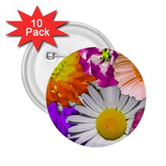 Lovely Flowers,purple 2.25  Button (10 pack)