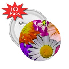 Lovely Flowers,purple 2.25  Button (100 pack)