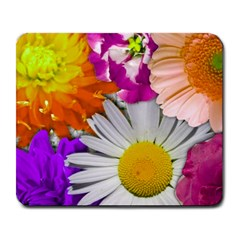 Lovely Flowers,purple Large Mouse Pad (Rectangle)