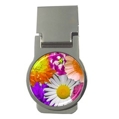 Lovely Flowers,purple Money Clip (Round)