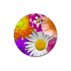Lovely Flowers,purple Magnet 3  (Round)