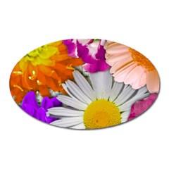 Lovely Flowers,purple Magnet (Oval)