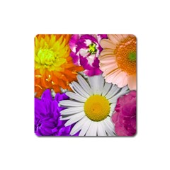Lovely Flowers,purple Magnet (square)