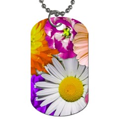 Lovely Flowers,purple Dog Tag (one Sided)