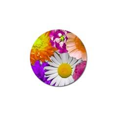 Lovely Flowers,purple Golf Ball Marker 10 Pack