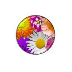 Lovely Flowers,purple Golf Ball Marker 4 Pack (for Hat Clip)