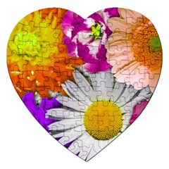 Lovely Flowers,purple Jigsaw Puzzle (heart)