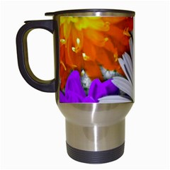 Lovely Flowers,purple Travel Mug (white)