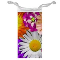Lovely Flowers,purple Jewelry Bag