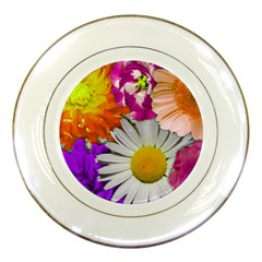 Lovely Flowers,purple Porcelain Display Plate