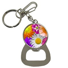 Lovely Flowers,purple Bottle Opener Key Chain