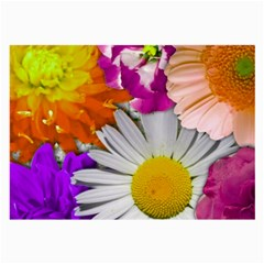 Lovely Flowers,purple Glasses Cloth (Large, Two Sided)