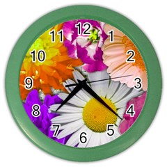 Lovely Flowers,purple Wall Clock (Color)