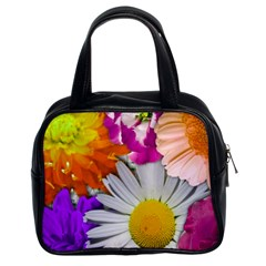 Lovely Flowers,purple Classic Handbag (two Sides)