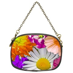 Lovely Flowers,purple Chain Purse (Two Sided)