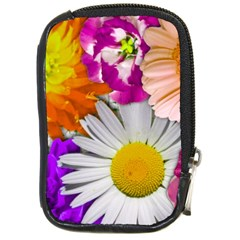 Lovely Flowers,purple Compact Camera Leather Case