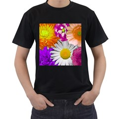 Lovely Flowers,purple Men s T Shirt (black)