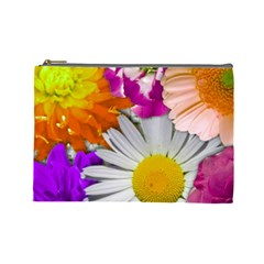 Lovely Flowers,purple Cosmetic Bag (Large)