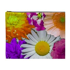 Lovely Flowers,purple Cosmetic Bag (xl)