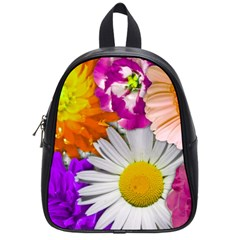 Lovely Flowers,purple School Bag (small)