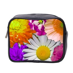 Lovely Flowers,purple Mini Travel Toiletry Bag (Two Sides)