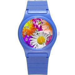 Lovely Flowers,purple Plastic Sport Watch (Small)