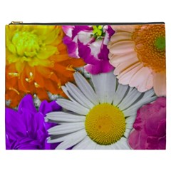 Lovely Flowers,purple Cosmetic Bag (xxxl)