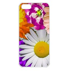 Lovely Flowers,purple Apple Iphone 5 Seamless Case (white)