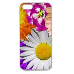 Lovely Flowers,purple Apple Seamless Iphone 5 Case (clear)