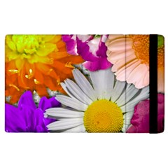 Lovely Flowers,purple Apple Ipad 3/4 Flip Case