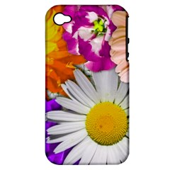 Lovely Flowers,purple Apple Iphone 4/4s Hardshell Case (pc+silicone)