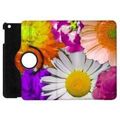 Lovely Flowers,purple Apple Ipad Mini Flip 360 Case