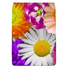 Lovely Flowers,purple Removable Flap Cover (large)