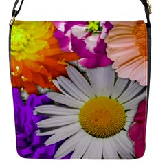 Lovely Flowers,purple Flap Closure Messenger Bag (Small)