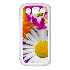 Lovely Flowers,purple Samsung Galaxy S3 Back Case (white)
