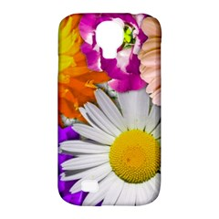 Lovely Flowers,purple Samsung Galaxy S4 Classic Hardshell Case (PC+Silicone)