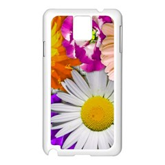 Lovely Flowers,purple Samsung Galaxy Note 3 N9005 Case (White)