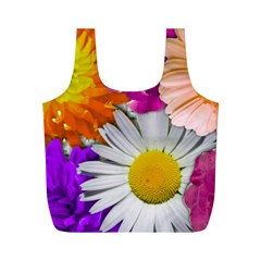 Lovely Flowers,purple Reusable Bag (M)