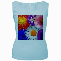 Lovely Flowers, Blue Women s Tank Top (Baby Blue)